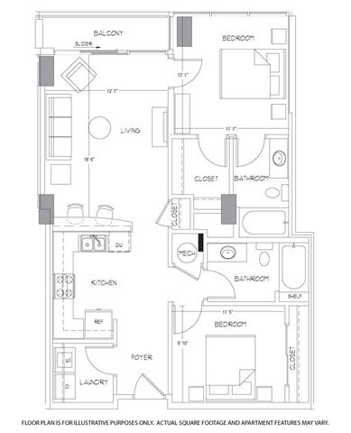 B1 Floorplan at Glass House by Windsor