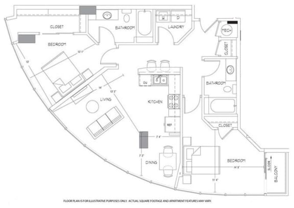 B3 Floorplan at Glass House by Windsor
