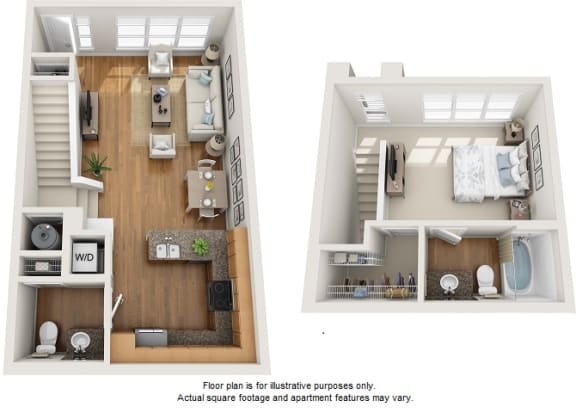 Floor Plan  Chandi floor plan at Element 47 by Windsor, 2180 N. Bryant St., 80211