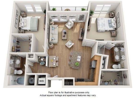 Floor Plan  Guld floor plan at Element 47 by Windsor, Denver, Colorado