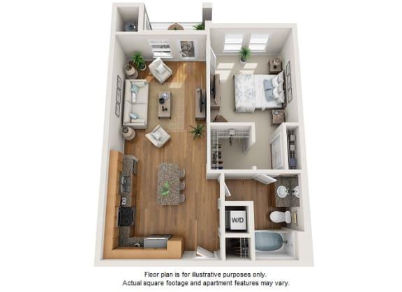 Floor Plan  Theia floor plan at Element 47 by Windsor, Denver, CO