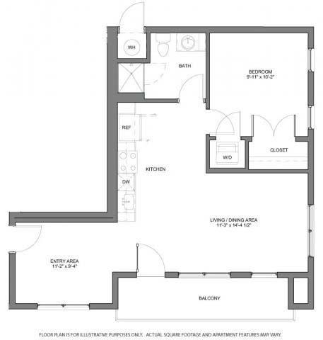 Floor Plan  A10 Floorplan at The Casey