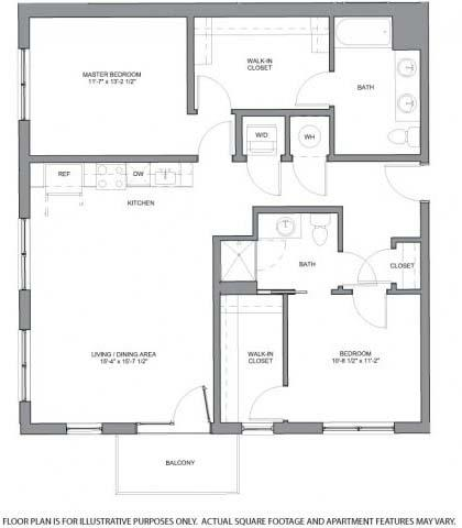 Floor Plan  B2.1 Floorplan at The Casey