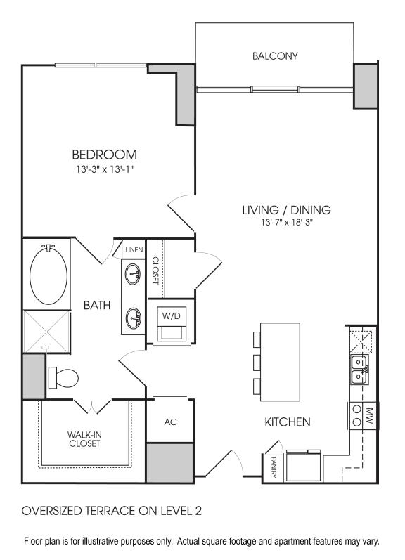 Floor Plan  A12-13 Floorplan at The Sovereign at Regent Square