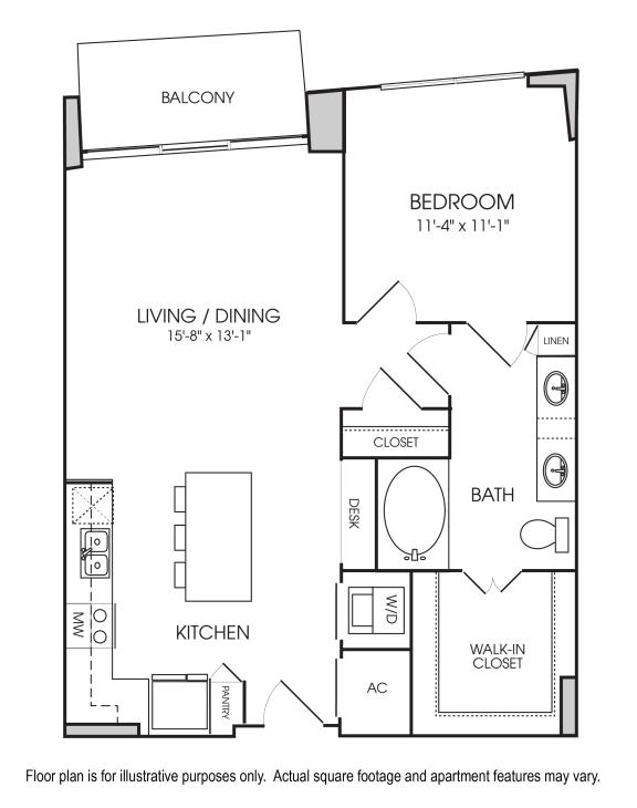 Floor Plan  A4-05 Floorplan at The Sovereign at Regent Square