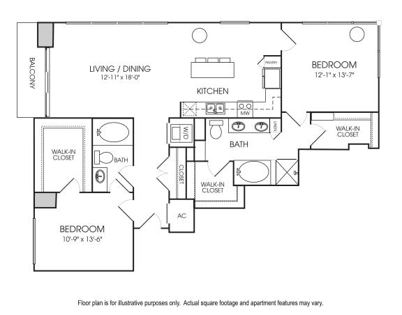 Floor Plan  B11-24 Floorplan at The Sovereign at Regent Square
