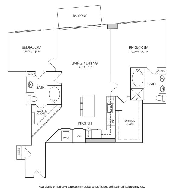 Floor Plan  B12-25 Floorplan at The Sovereign at Regent Square