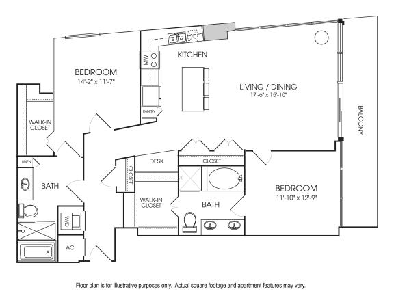 Floor Plan  B13-26 Floorplan at The Sovereign at Regent Square