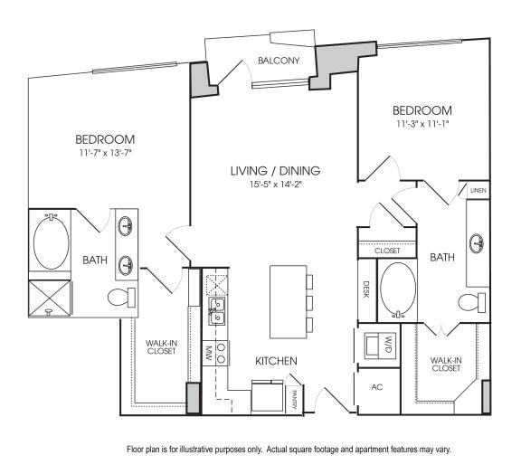 Floor Plan  B4-17 Floorplan at The Sovereign at Regent Square