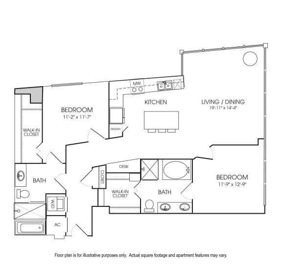 Floor Plan  B6-19 Floorplan at The Sovereign at Regent Square