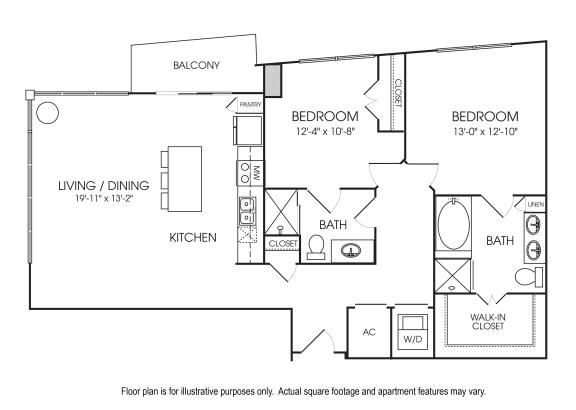 Floor Plan  B7-20 Floorplan at The Sovereign at Regent Square