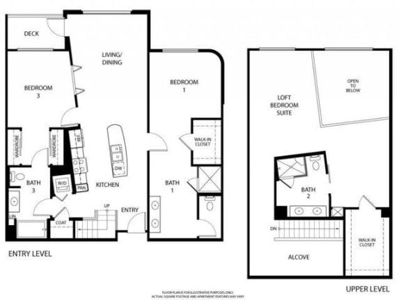 Floorplan At 5550 Wilshire at Miracle Mile by Windsor, Los Angeles, CA, 90036