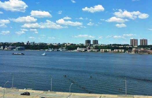 Stunning Hudson River views.