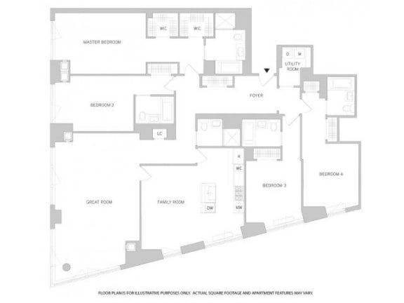 Floor Plan  4Br 5Bth 1 Floorplan at The Aldyn