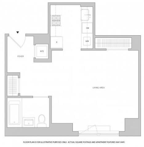 Floor Plan  Studio 3 Floorplan at The Aldyn