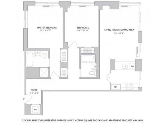 Studio 1 2 3 Bedroom Apartments In Manhattan The Ashley