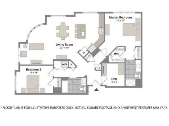 Floor Plan  Floorplan at Warren at York by Windsor, 120 York St., Jersey City, NJ 7302