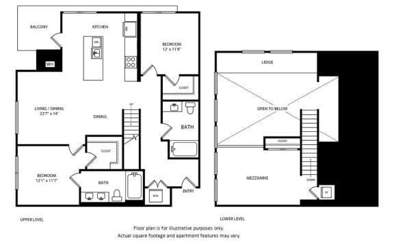 Floor Plan  Floorplan at Boardwalk by Windsor, Huntington Beach, CA 92647