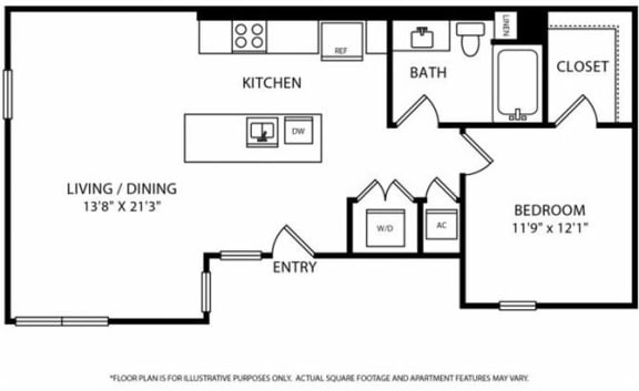 Floor Plan  Floorplan at Boardwalk by Windsor, Huntington Beach, CA, 92647