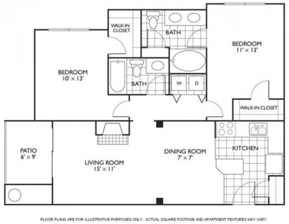 Floor Plan  Cavanaugh Floorplan at Reflections by Windsor