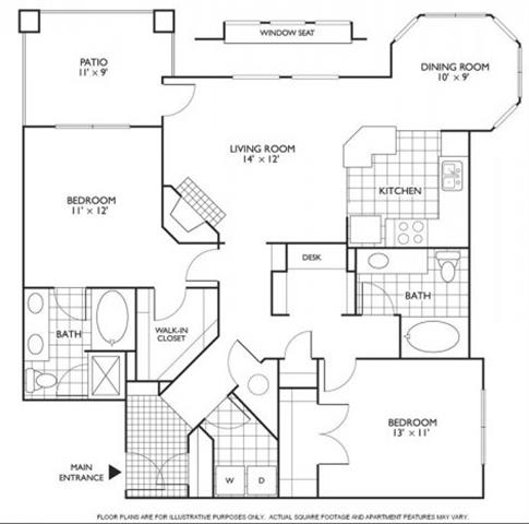 Floor Plan  Columbia Floorplan at Reflections by Windsor