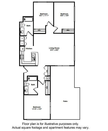 Floor Plan  Key West Floor Plan at Tera Apartments