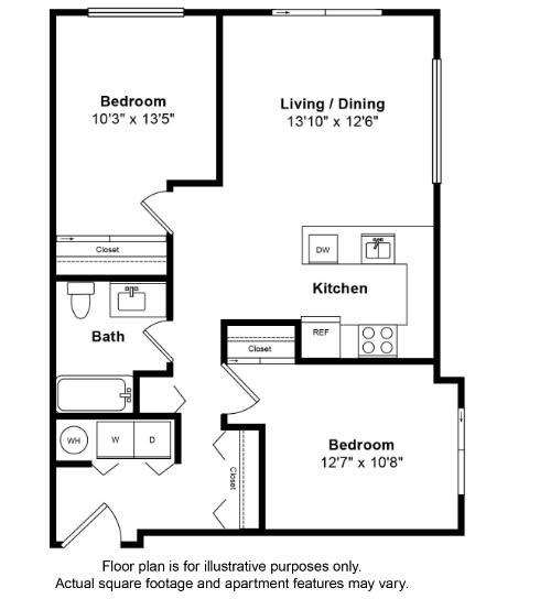 Floor Plan  San Juan Floor Plan at Tera Apartments