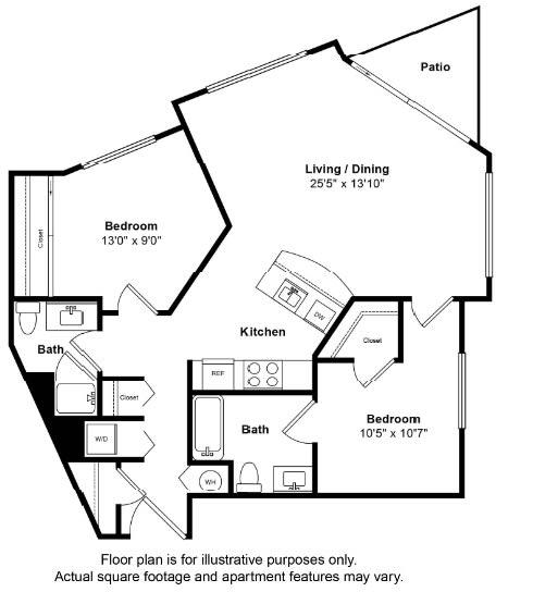 Floor Plan  St Croix Floor Plan at Tera Apartments
