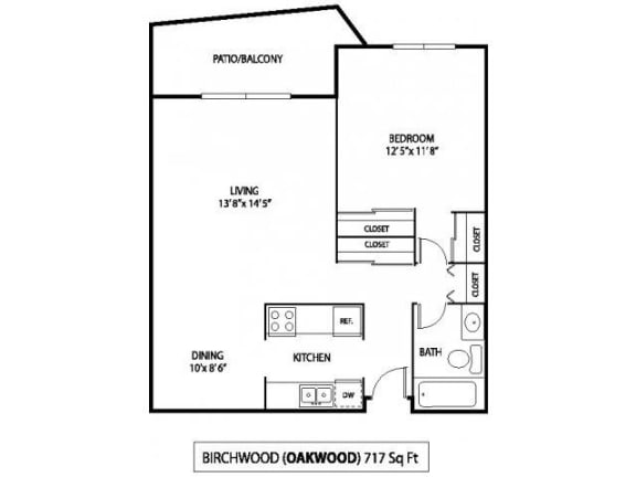 Oakwood Apartments in Plymouth, MN 1 Bedroom 1 Bath
