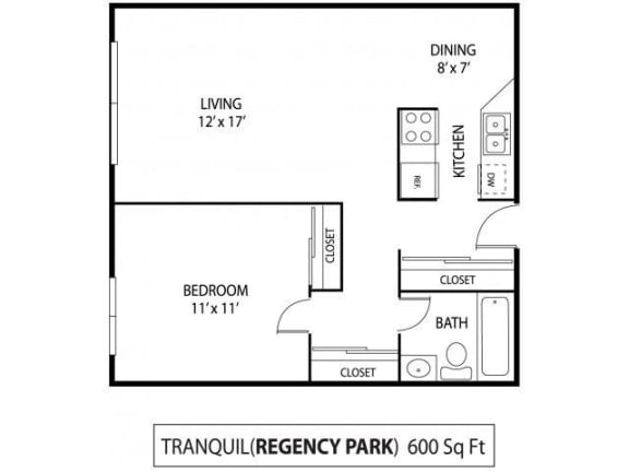 Regency Park Apartments in North St. Paul, MN 1 Bedroom 1 Bath