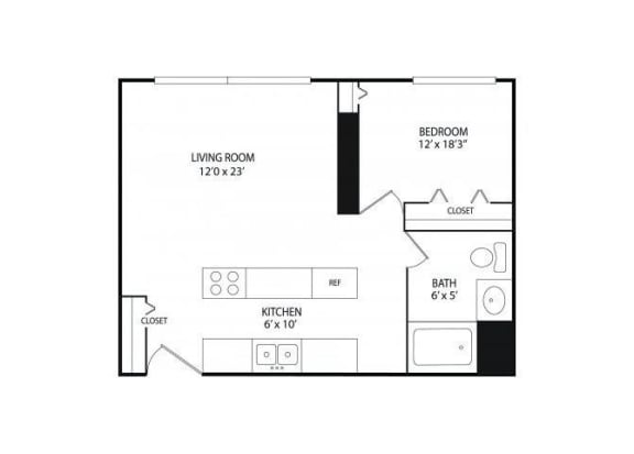 Winslow Commons Apartments in St. Paul, MN 1 Bedroom 1 Bath