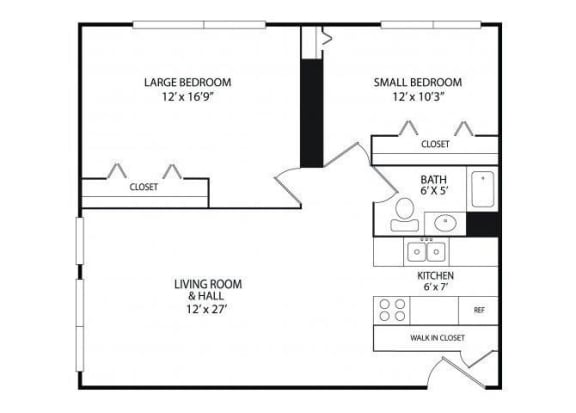 Winslow Commons Apartments in St. Paul, MN 2 Bedroom 1 Bath