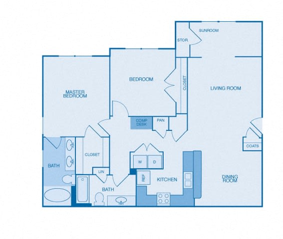The Stratford Floor Plan at The Reserve at Maryville, Maryville