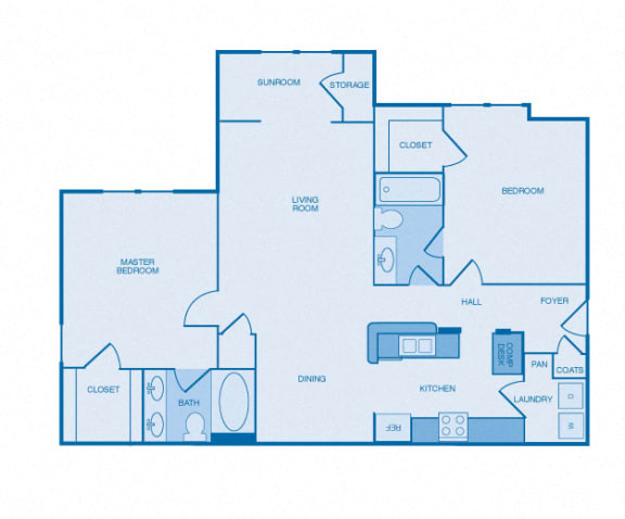 The Rockefeller Floor Plan at The Reserve at Maryville, Tennessee