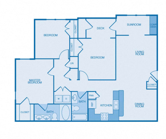 The Biltmore Floor Plan at The Reserve at Maryville, Maryville, TN