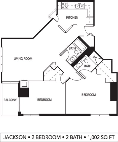Galtier Towers Apartments in Lowertown, St. Paul, MN 2 Bedroom 2 Bath Apartment