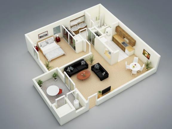 Autumn Floor Plan at The Seasons Apartments, San Ramon, CA, 94583