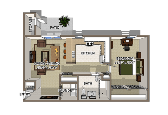 The Waterford Floor Plan at Lakecrest, Greenville, 29615