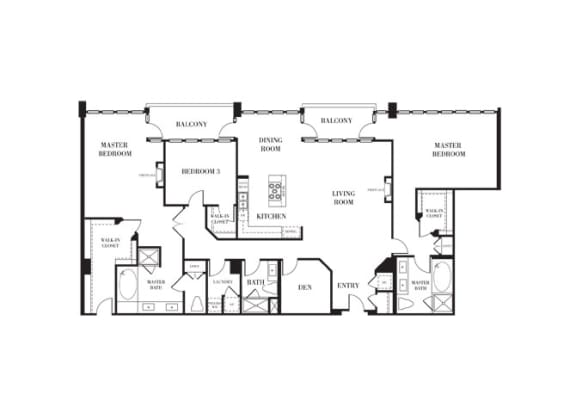 SoHo Floorplan at Astoria at Central Park West Apartments