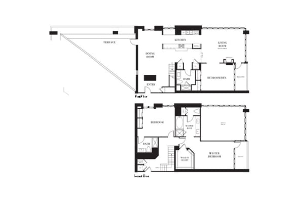 Hampton Floorplan at Astoria at Central Park West Apartments