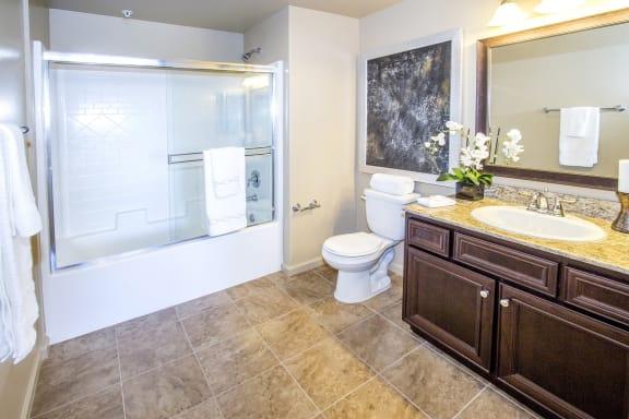 Shower Enclosures at Le Blanc Apartment Homes, Canoga Park, 91304