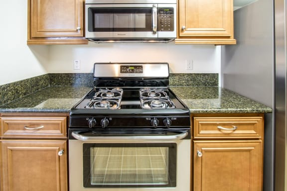 Over-the-Range Microwaves at Le Blanc Apartment Homes, Canoga Park, 91304