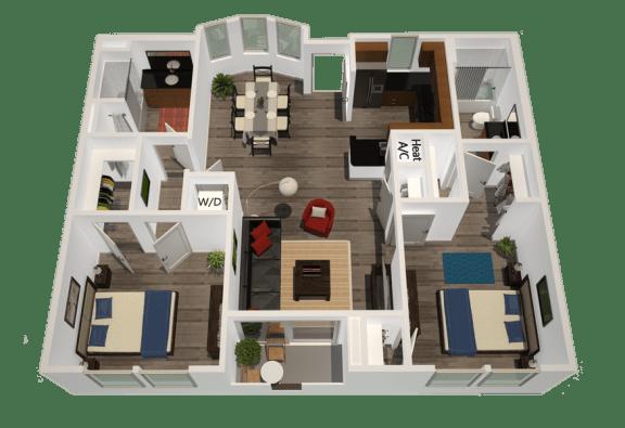 Floor Plan  Legacy Apartment Homes  - Northridge - Luxury Rental Apartments