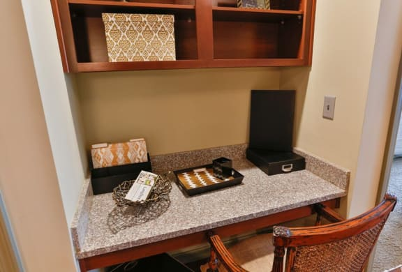 Built in Computer Niche at LangTree Lake Norman Apartments, Mooresville, NC