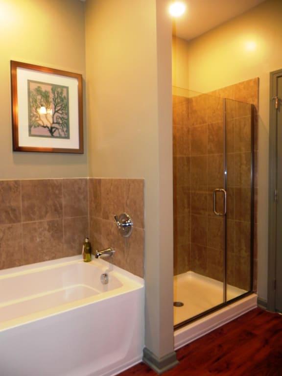 Spacious Bathroom at LangTree Lake Norman Apartments, Mooresville, NC