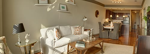 Spacious Living Room at LangTree Lake Norman Apartments, North Carolina, 28117