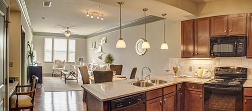 Spacious Kitchen at LangTree Lake Norman Apartments, Mooresville