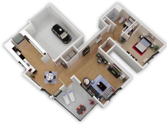 Floor Plan  Capitol Yard Apartments_ West Sacramento CA_Floor Plan_One Bedroom One Bathroom A2