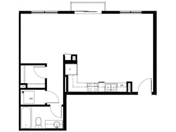 Capitol Yard Apartments_ West Sacramento CA_Floor Plan_Studio 4