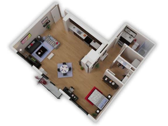 Floor Plan  Capitol Yard Apartments_ West Sacramento CA_Floor Plan_Studio 4